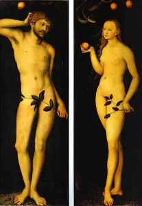 Lukas Cranach, Adam and Eve (Uffizi Gallery, Florence)