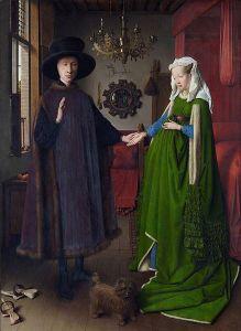 Jan van Eyck, The Arnolfini Portrait (National Gallery, London)