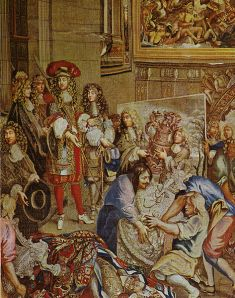 Louis XIV Visits the Gobelin factory--a Gobelin tapestry (Palace of Versailles)