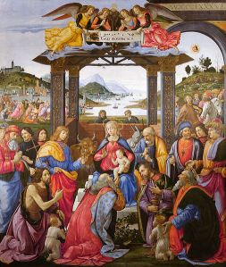 Domenico Ghirlandaio, The Adoration of the Magi (Hospital of the Innocents, Florence)