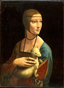 Leonardo da Vinci, Lady with an Ermine (Czartoryski Museum, Wawel Castle Krakow)