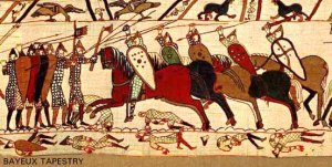 Detail of the Bayeux Tapestry (Bayeux, Normandy)