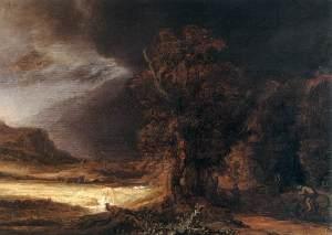 Rembrandt, Landscape with a Good Samaritan (Czartoryski Museum, Wawel Castle Krakow)